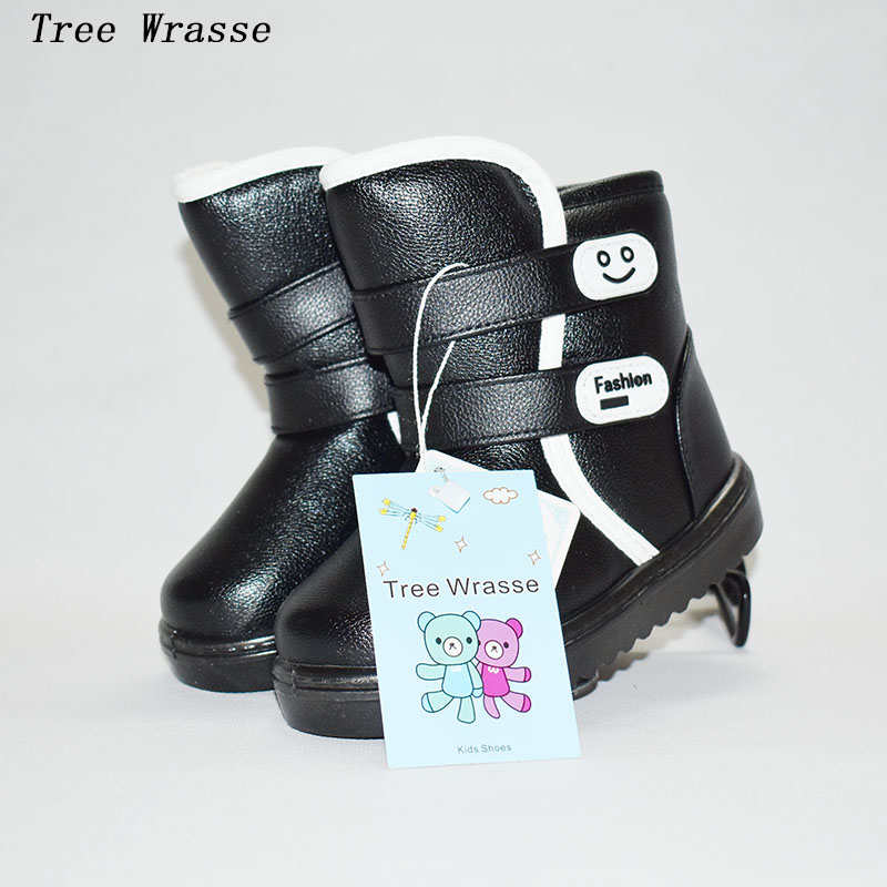 Children's Snow Boots Boys Winter Boots 2017Tree Wrasee waterproof thickening non-slip warm and comfortable boys and girls boot