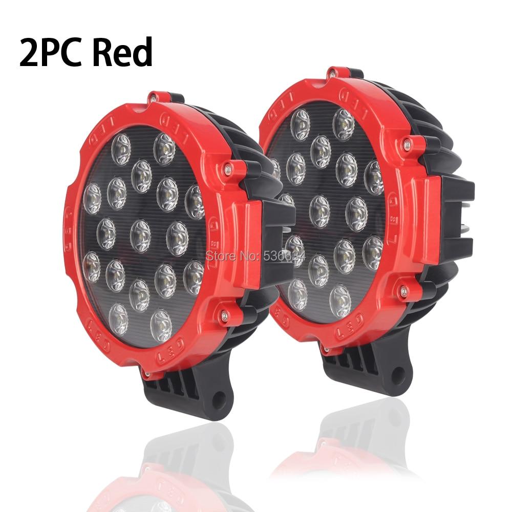 51 Вт 7 inch Led Off Road пятно света красный круглое пятно бампер дальнего света фар Туман Fit для Jeep внедорожник 4x4 лодка и т. д.