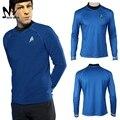 Star Trek Футболка Капитан Кирк Спок косплей костюм Star Trek в darkess повседневная с Длинным рукавом футболки для взрослых Хэллоуин костюм