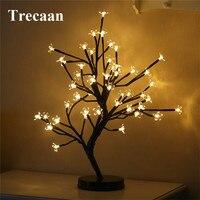 Trecaan 48Leds Cherry LED String Light Fairy Garland Cherry Blossom Tree LED Table Lamps Christmas Party