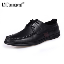 цены Fashion High Quality Genuine Leather Shoes Men,Lace-Up Business Men Shoes,Mens Dress Shoes all-match cowhide spring autumn