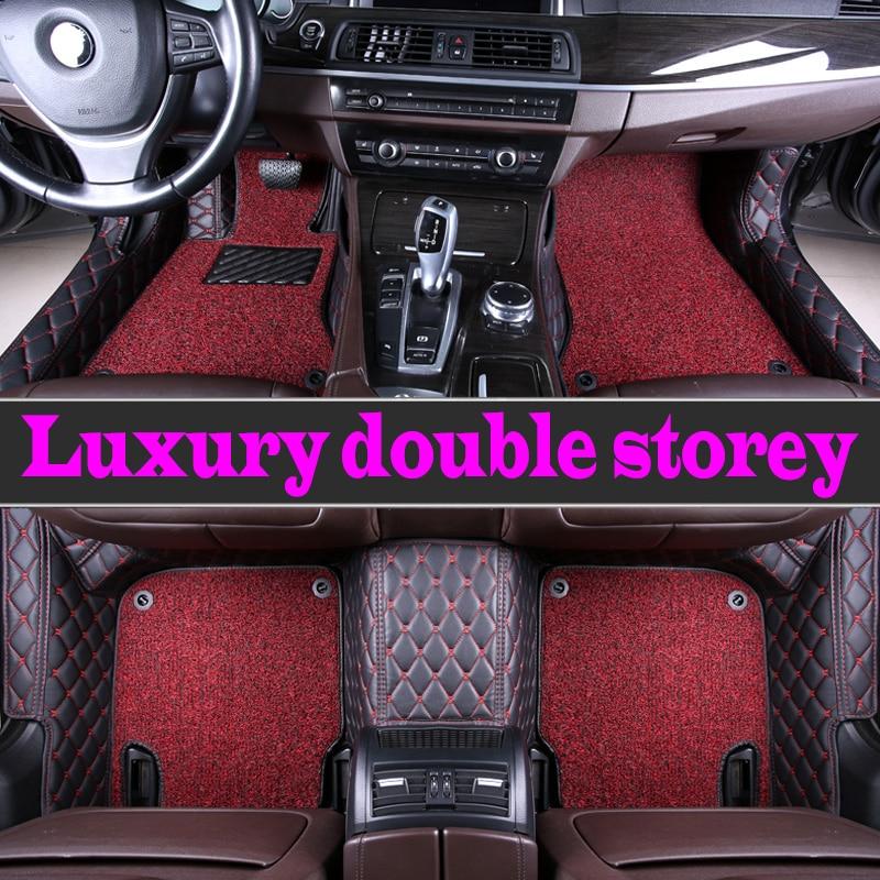Custom car floor mats Case for Buick Enclave Encore LaCrosse Regal Excelle GT XT leather Anti slip carpet liner