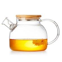Практичный 1800 мл/1000 мл Прозрачный термостойкий чайный горшок из боросиликатного стекла, чайный набор с крышкой