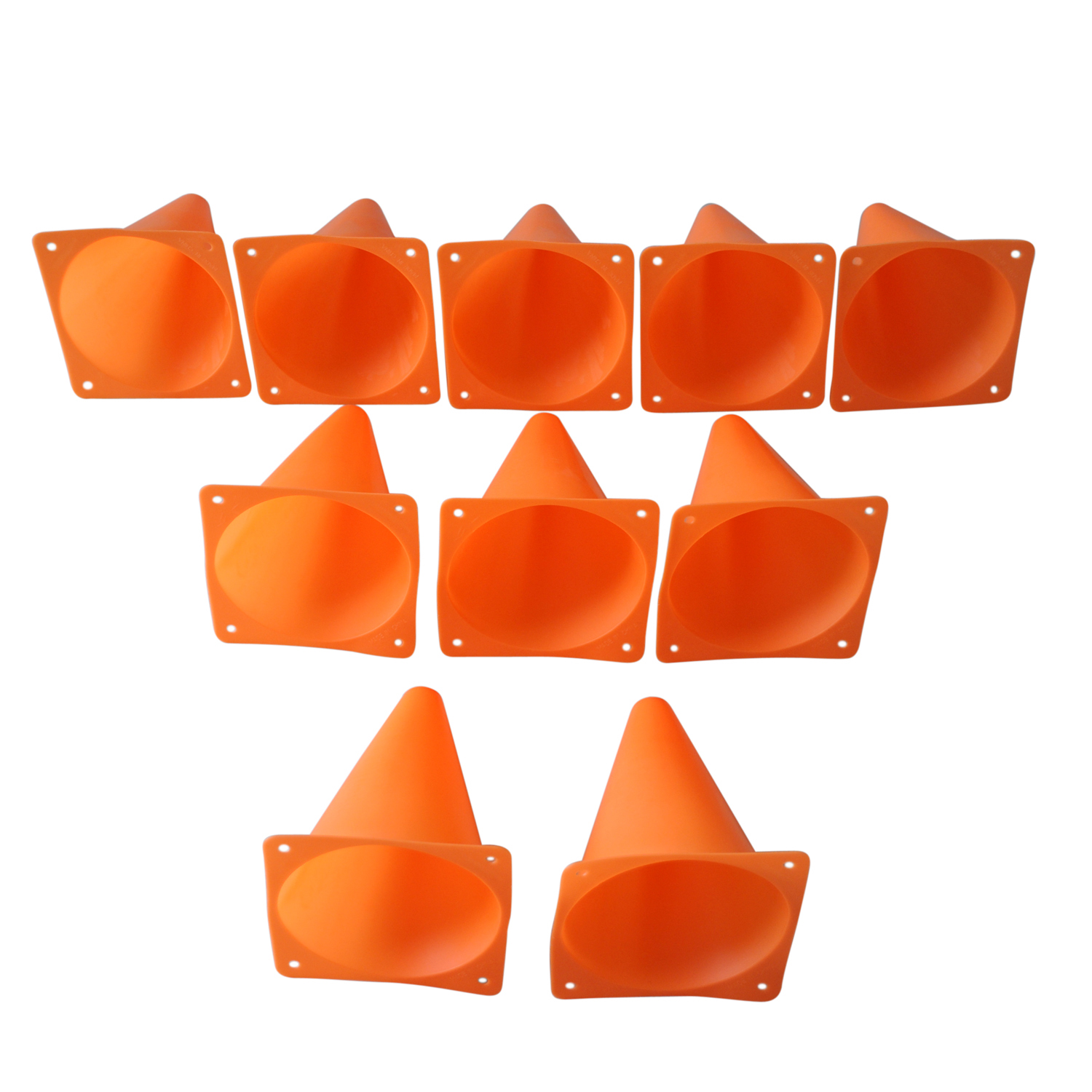 SZ-LGFM-7 Marqueur Cônes Cours/de Football et De Soccer Cônes (10 pcs/ensemble) Orange