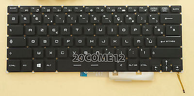 NEW For MSI GS40 keyboard White backlit NOT RED US No Frame