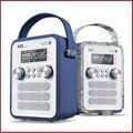 P10 Многофункциональный Кожаный Ретро Bluetooth Динамик С Fm-радио Поддержка Будильник, Отображение Времени