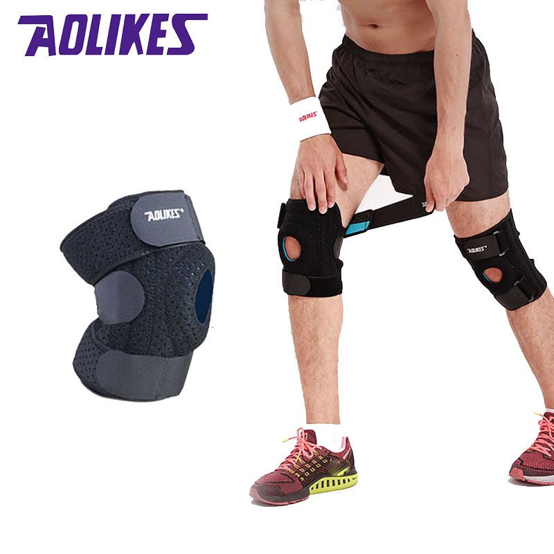 fe35e779d2 Aolikes 1PCS Unisex Adjustable Sports Leg Knee Support Brace Protector Pads  Sleeve Cap Patella Guard 2 Spring Bars Black -in Elbow & Knee Pads from  Sports ...