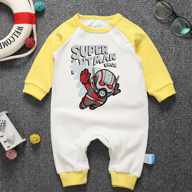 Pyjamas Bébé SUPER HERO ANTMAN – Barboteuse Bébé À Manches Longues