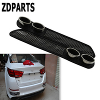ZDPARTS 3D Car Carbon Chrome Exhaust Tail Pipes Bumper Stickers For Skoda Octavia A5 A7 2