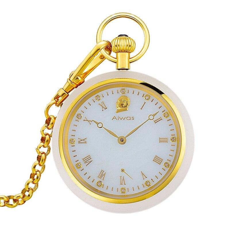 Новые Полые механические мужские нефритовые карманные часы модные брендовые мужские карманные часы Лучшие Роскошные Горячие стильные мод