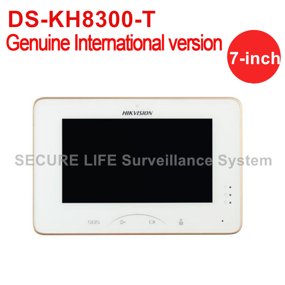 DS-KH8300-T English Version Video Intercom 7-inch Touch Screen Indoor Statio Built-in Mic Loudspeaker Support Up To 32GB TF Card