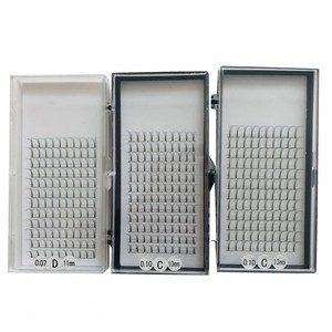 Image 4 - Long Stem Hotsale 3 Trays/lot 3D 5D Premade Fans Grafting Volume Fake Mink Eyelashes False Clusters 9 15mm 3D Mink