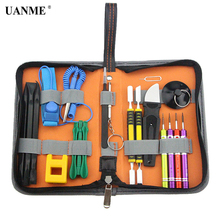 цена на 19 in 1 Multi Hand Tools Kit Bag For iPhone 7 6s 6 5s 5c 5 Repair Opening Tool with Spudger Set Screwdrivers Tweezers