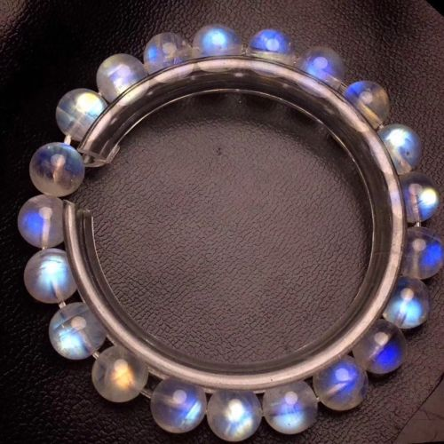 Free shipping 8mm Natural Burma Moonstone Rainrow Blue Light Round Beads Bracelet AAAA цена и фото