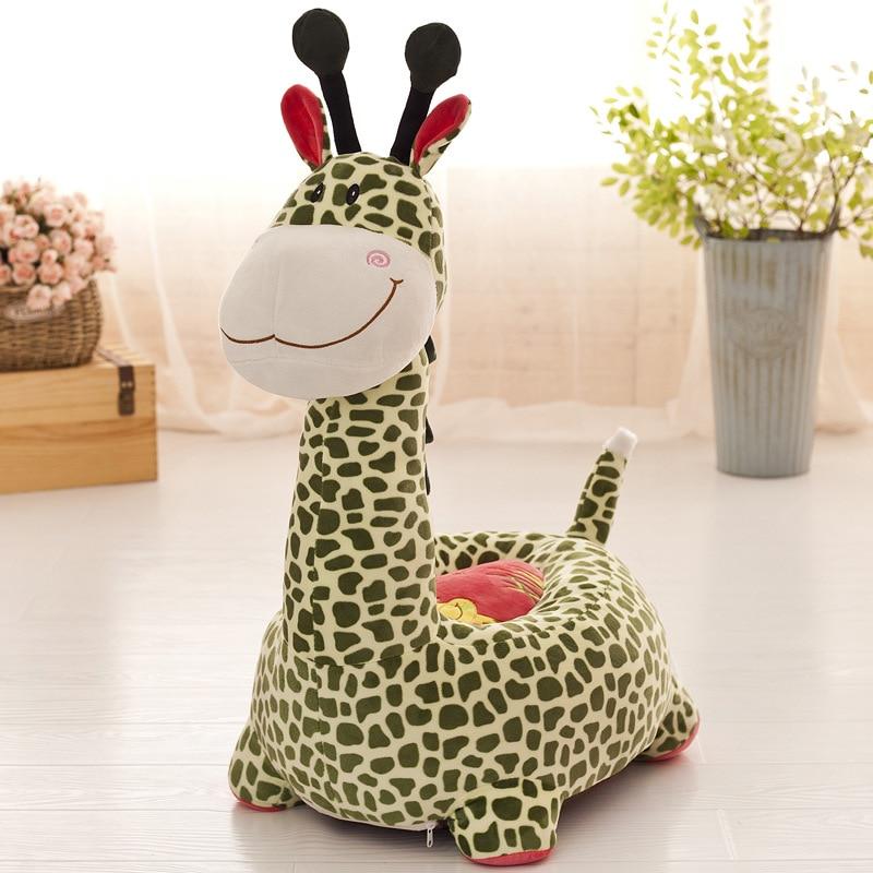Factory Direct Sale Cartoon  Stuffed Toys Sofa For Children Giraffe Crown. Monkey. Dog. Elephant. Bear. Rabbit Kids Stool