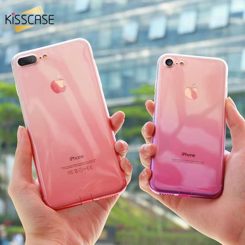 BEIJOS Gradiente de Cor Caixa Do Telefone Para O iPhone Da Apple XR XS Max Ultra Slim Macio TPU Capa Para iphone 4 7 8 6 6S Plus 5S 5 Se Capa