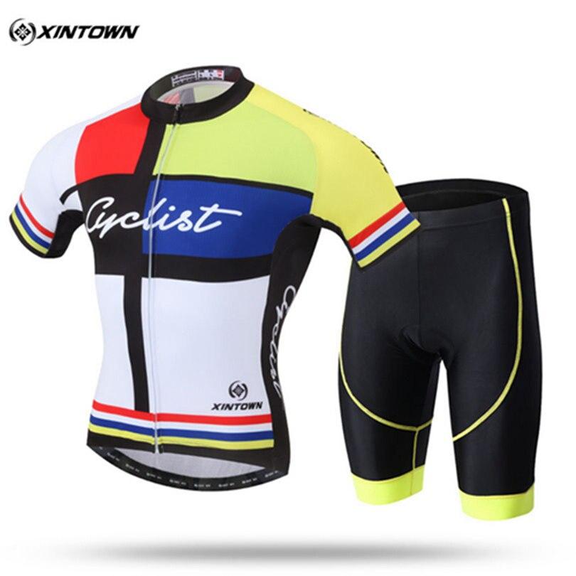Jerseys de Ciclismo Ciclismo Phtxolue Homens Conjunto Maillot