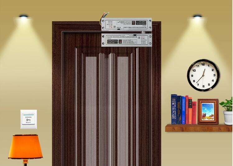 ФОТО 500000 times 6 wires RFID access control system glass door electric strike bolt lock locking when power off