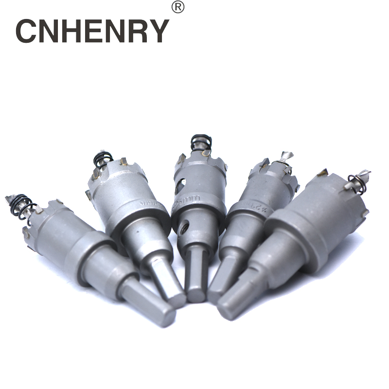 6pcs Core Drill Bit 22/30/35/45/50/65mm Stainless Steel Hole Saw TCT Carbide Tip Drill Bit Metal Cutting Drilling Power Tools tungsten steel carbide tipped tct drill bit metal cutter core hole saw core drill bit dia 16 100