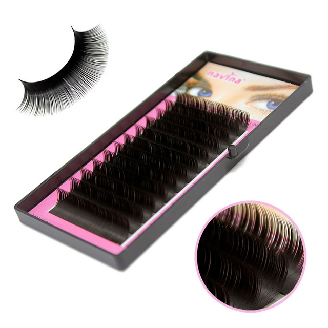 68bd883f0d2 Navina 1case 0.10/0.15C Mink Eyelash Extension Natural Individual Mink  Eyelashes Fake Eye Lashes Makeup False Faux Cilias Black