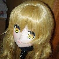 (C2 037) Japan Handmade Silicone Rubber Face Kigurumi Mask Cosplay with Wig Kigurumi Masks Crossdresser Doll Anime Role Play