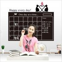 Pvc calendario 60 cm * 95 cm pizarra vinilo removible papel de oficina de la fábrica tablón de anuncios notas sticker Decor