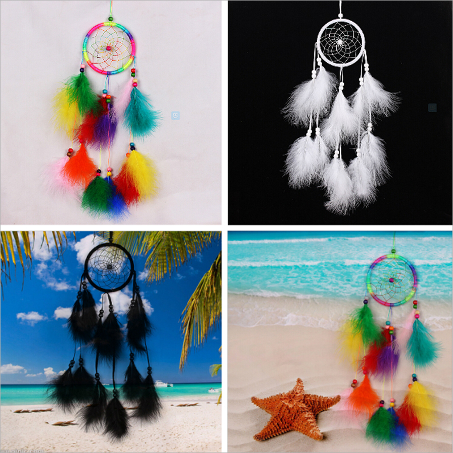 55 cm Dreamcatcher Gift Handmade Dream Catcher Net With Feathers Wall Hanging Decoration Ornament life1013