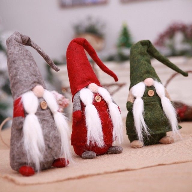 Christmas Gnome Decor.Us 5 42 15 Off 17 Inches Handmade Christmas Gnome Decoration Swedish Santa Holiday Collectible Figurines Christmas Figurine Doll In Pendant Drop