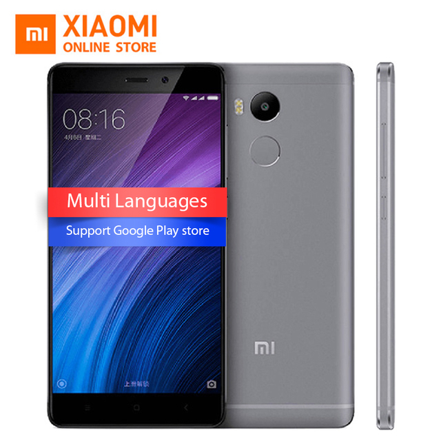 "Original Xiaomi Redmi 4 Pro 3GB RAM 32GB ROM Mobile Phone Snapdragon 625 Octa Core CPU 5.0"" FHD 13MP Camera 4100mah MIUI8.1"