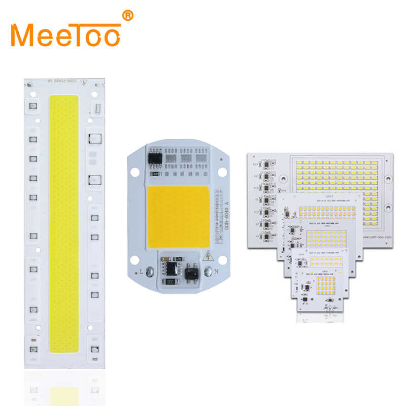 COB LED Lamp Chip 20W 30W 50W 70W 90W 100W 150W LED COB Bulb Lamp 220V Smart IC Cold Warm White LED Spotlight Floodlight Chip