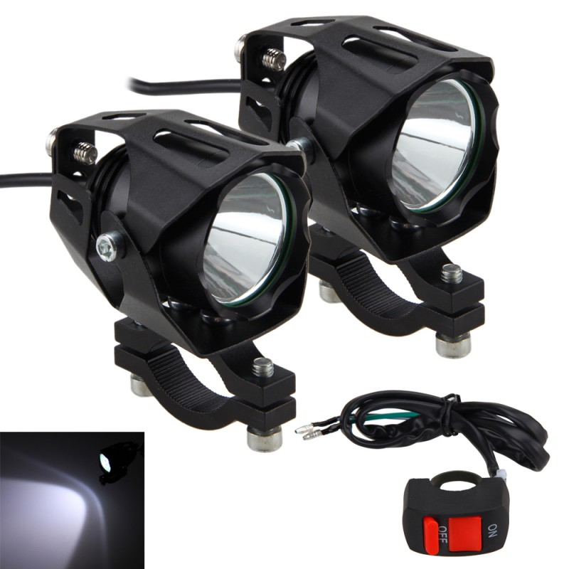 1 Or 2PCS 30W 6500K 4V-84V Motorcycle XM-L T6 LED Driving Headlight Fog Lamp Spot Light
