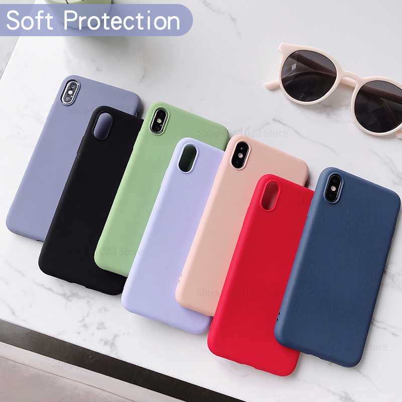 A70 Solid Color Silicone Couples Cases on For Samsung Galaxy A70 A 70 Cute Candy Color Soft Simple Fashion Phone Cover Case NEW