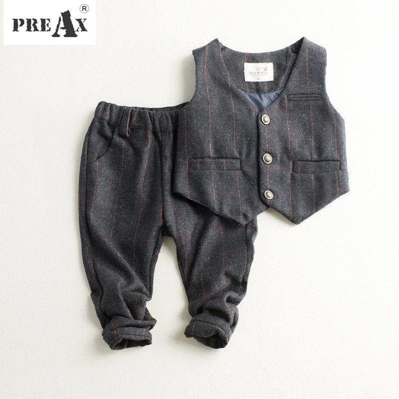 Boys Blazer Children Clothing 2018 New Boys Suits Vest Blazer Tuxedo Wedding Suit for Kids Cotton Vest+trousers Set Baby Clothes 30 new styles festival gifts top trousers lifestyle suit casual clothes trousers for barbie doll 1 6 bbi00636