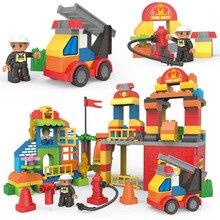 City Series Fire Brigade Blocks Firemen Figures Building Blocks Sets Bricks Educational Kids Toys Children DIY Toys Gifts недорго, оригинальная цена