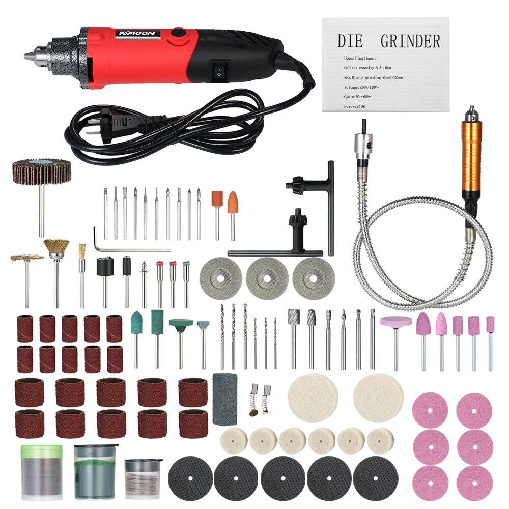 Grinder électrique Set 6-Vitesse Variable Vitesse Perceuse Électrique Outil De Meulage Rotatif avec 150 pcs Accessoires pour le Polissage Gravure