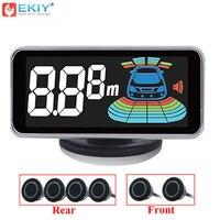 EKIY Parking Sensor 6 Sensors Reversing Radar Detector LED Digital Car Parking Assistance Kit Alarm System 12V Auto Parktronic