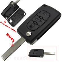 3 Кнопки Дистанционного Флип Складные Uncut Ключевые Shell Дело Брелок Обложка для Peugeot 307 308 407 607 С Автомобиля ключ Кнопка с логотип
