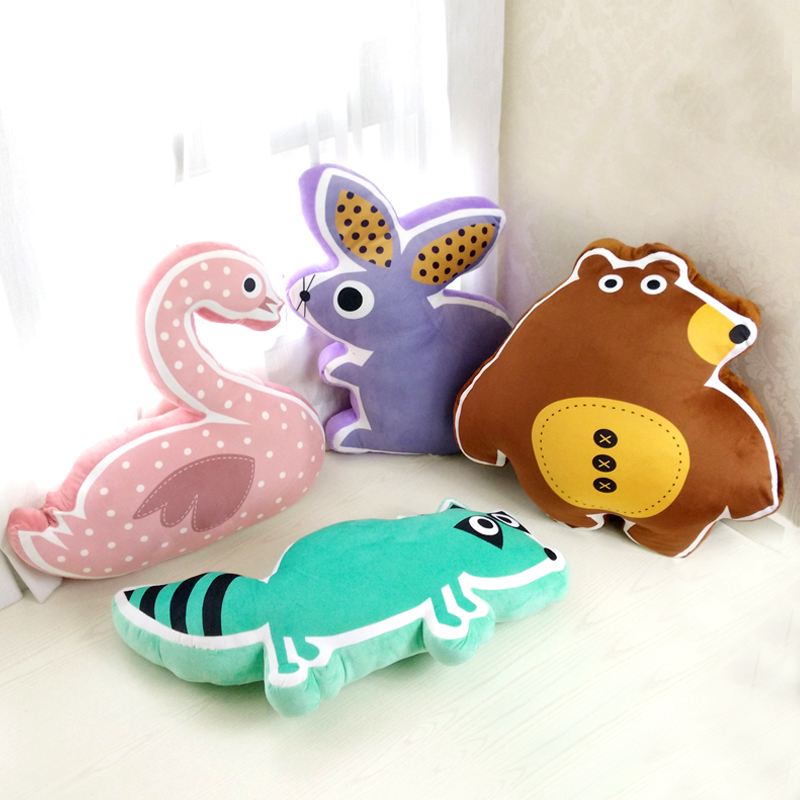 Fashion Cartoon sleeping pillow plush animal kids toys Soft pp Cotton kawaii dinosaur stuffed doll Sleeping Back birthday gifts 1pc 45cm lovely rabbit plush pillow stuffed cute animal toys dolls kawaii soft kids baby sleeping doll creative birthday gift