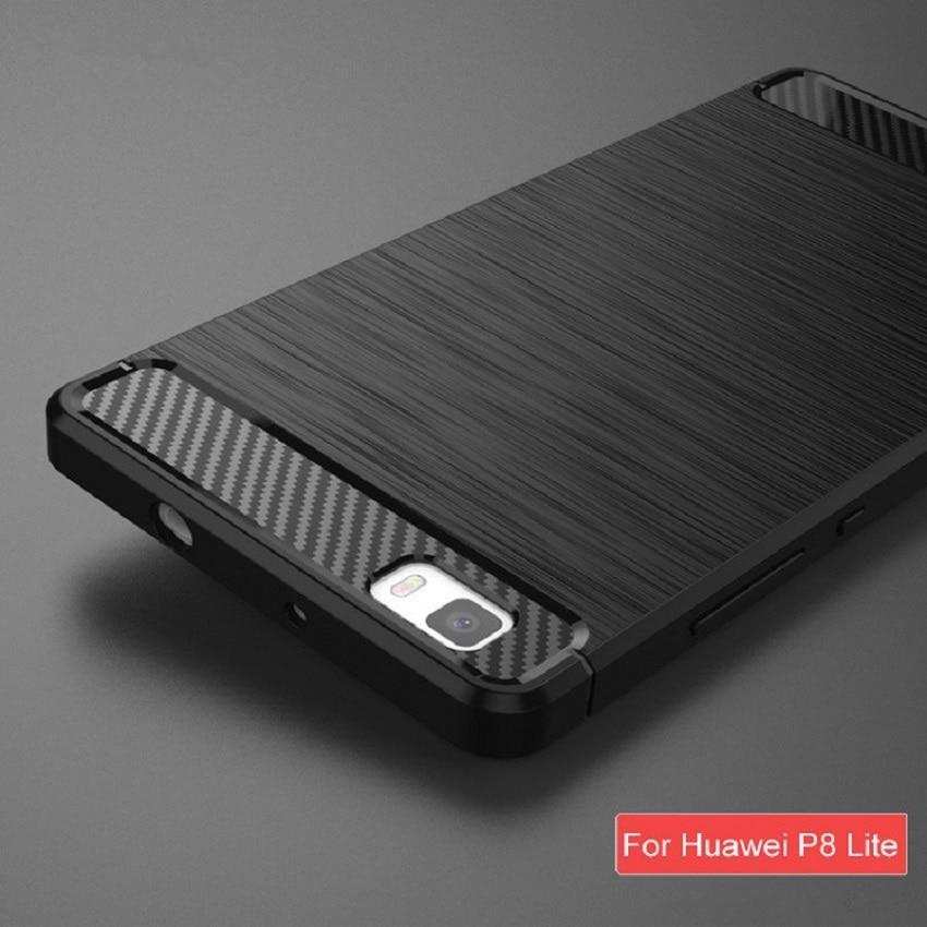 För Huawei P8 Lite Fodral Mjukt Silikon Mobiltelefon Fodral Helt - Reservdelar och tillbehör för mobiltelefoner