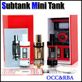 Sub ohm subtank mini v2 atomizador RBA Rebuildable Bobina OCC core Cabeza de Repuesto 4.5 ML Organnic Algodón Cigarrillo electrónico Clon