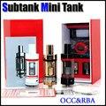 Sub ohm subtanque mini v2 atomizador Rebuildable RBA Bobina OCC núcleo Cabeça Substituição 4.5 ML Algodão Organnic E Clone Cigarro