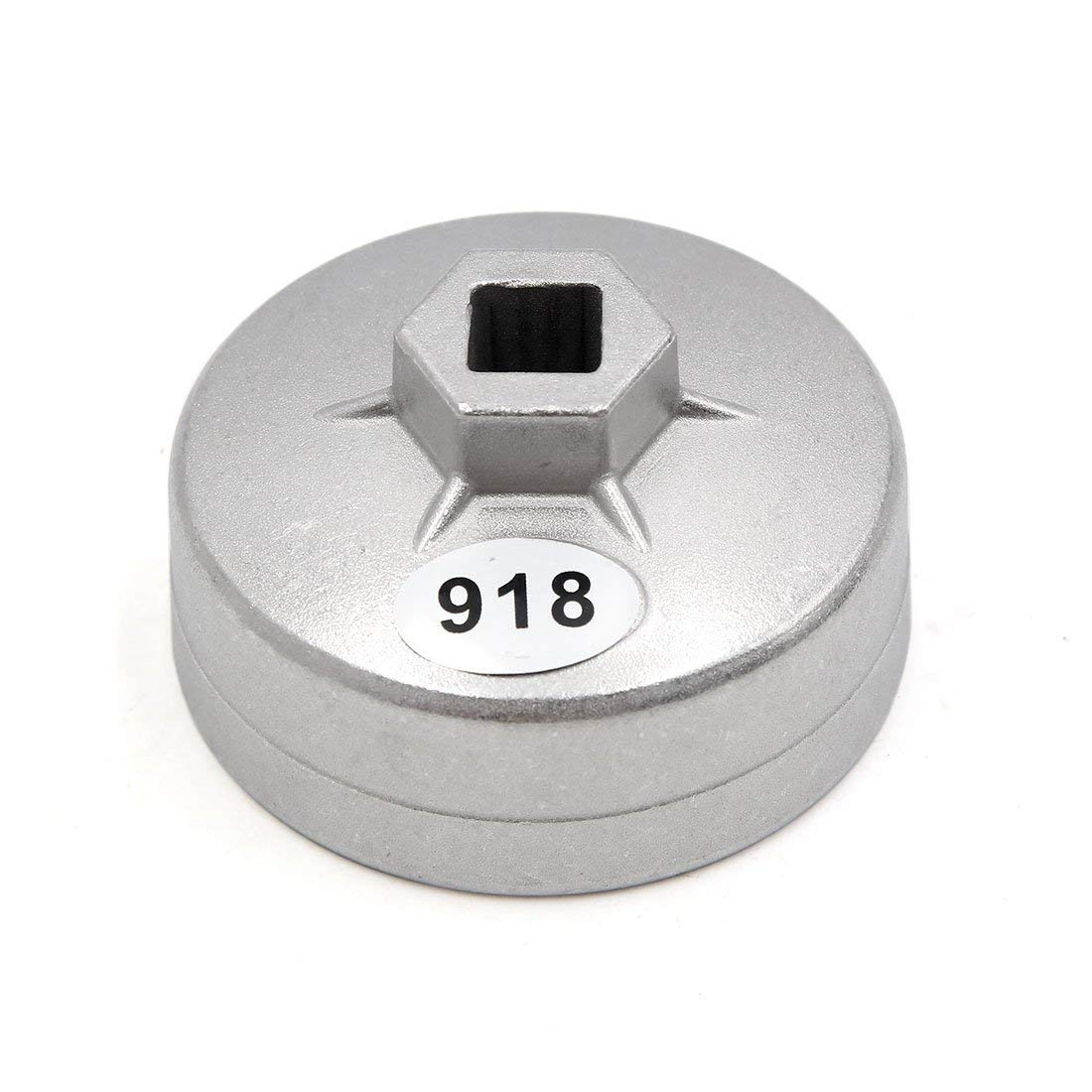 15 Flutes Oil Filter Cap Wrench Tool,Cuque Oil Filter Wrench Cap Housing Tool Remover 904 Aluminum Cap Oil Filter Wrench Car Socket Remover Tool 79mm