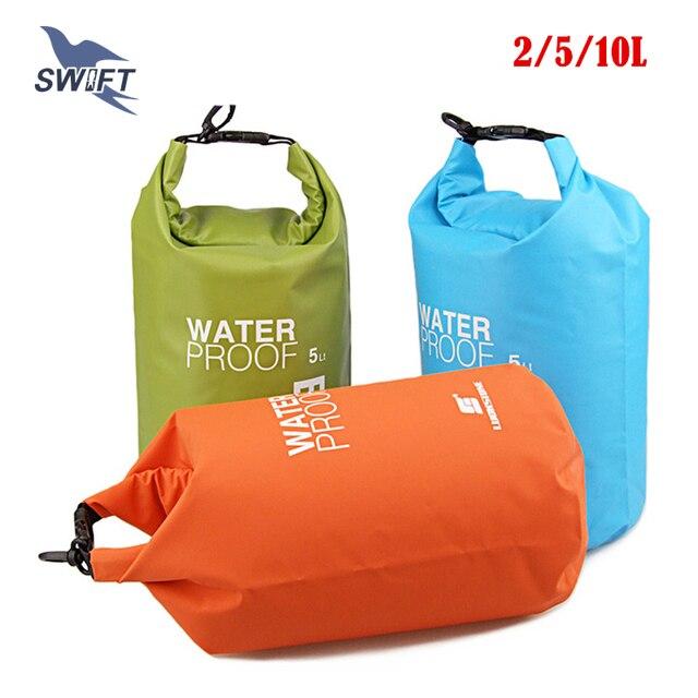 2L/5L/10L Ultralight PVC Waterproof Swimming Bag Beach Swimsuit Bikini Dry Bag Snorkeling Diving Pool Float Superdry Stuff Sack