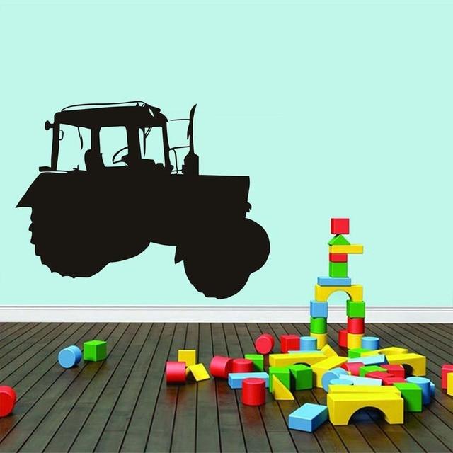 Cartoon Farm Tractor Wall Sticker Removable Vinyl Waterproof Art ...