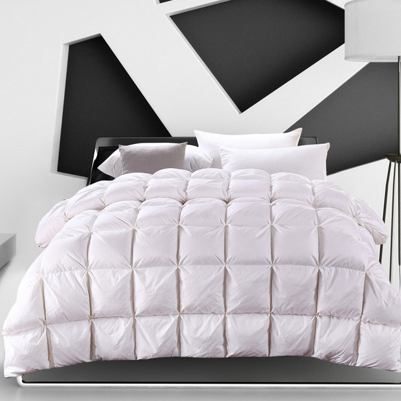 Winter Warm White Goose Down Comforter Duvet Quilted
