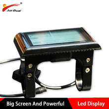 36v 48v big screen LCD display bike computer with water-proof connect wire bicycle speedometer for powerful electric bike kits