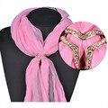 Brilho de lenço lenço de moda fechos de jóias de boa qualidade mulheres SJ00001