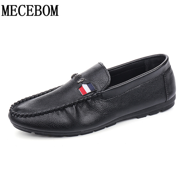 New fashion Brand men Casual shoe slip on Breathable pu leather flats Men Shoes hot sales driving Loafers size 39-44 A50M