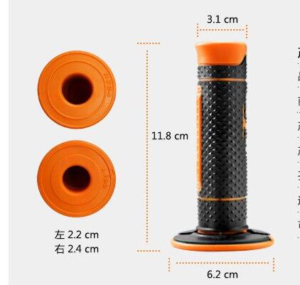 "MOTERCROSS 7/8"" Motorcycle Hand Grips Handle Rubber Bar Gel Grip Orange Modified Accessory For KTM Duke 125 200 390 690 990"