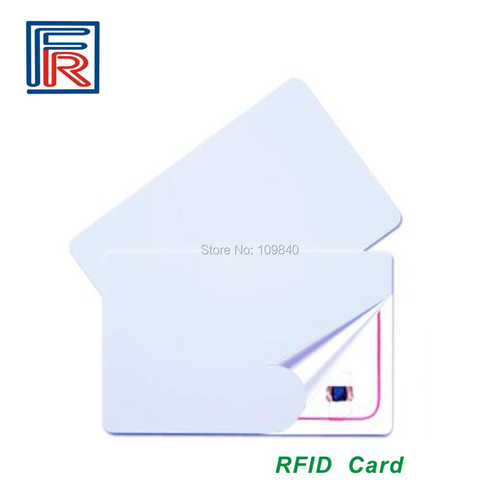50pcs 13.56MHz RFID PVC blank white card with Fudan 1K S50 chip ISO14443A for access control/NFC